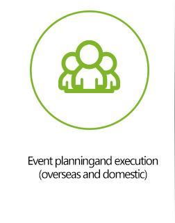 Event planningand execution (overseas and domestic)